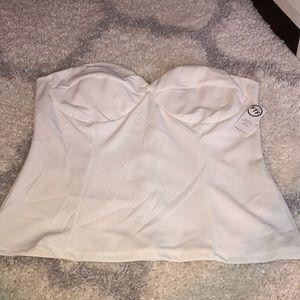 Plus Size White Corset Top